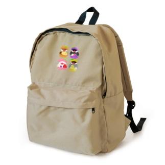 ぎゅっ♪マカロン文鳥ず Backpack