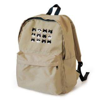 ねこあたまコレクション 黒白ちゃんハチワレちゃん Backpack