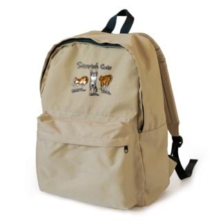 のびをする猫ちゃんず カラー Backpack
