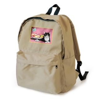 カフェネコ・昭和レトロ〈プリンアラモード〉 Backpack
