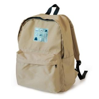 TealBlueItems _Cube BLUE Ver. Backpack
