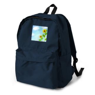 青空とひまわり Backpack