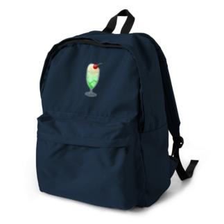 懐かし!メロンクリームソーダ backpack