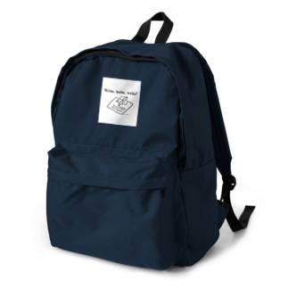 Write, write, write! Backpack