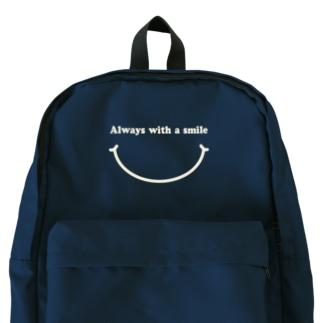 いつも笑顔で(濃色用) Backpack