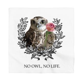NO OWL, NO LIFE. Bandana