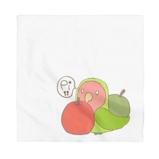 コザクラインコとりんご Bandana