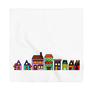 Colorful Buildings Bandana