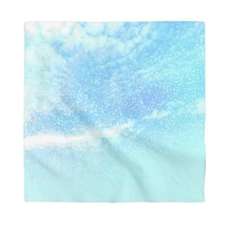 Pastel blue cosmic sky Bandana