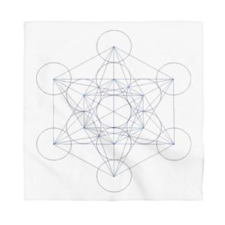 シンプル 「Metatron's Cube」 Bandana
