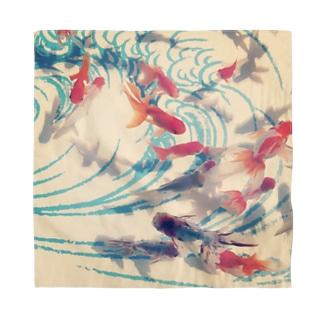 金魚 和波レトロ Bandana