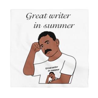 夏の文豪Tシャツを着た夏の文豪 Bandana