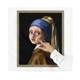 イラッとする真珠の耳飾りの少女 Bandana