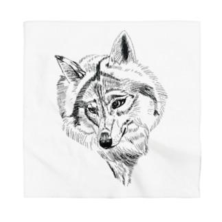 Wolf Bandana
