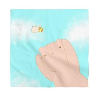 ハチとクマ(淡) Bandana