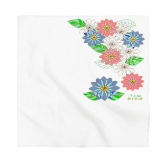 Stained glass flowers ~Vertical~ Bandana