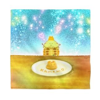 《イラスト14》*かめくんとパンケーキ* Bandana
