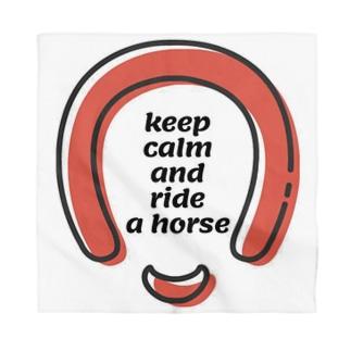 Keep calmの馬、蹄鉄、馬蹄シリーズ Bandana