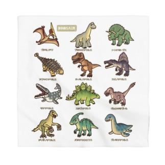 恐竜図鑑 Bandana