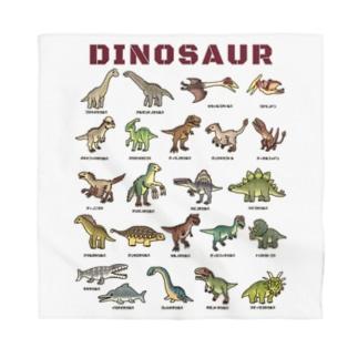 ちょっとゆるい恐竜図鑑 Bandana