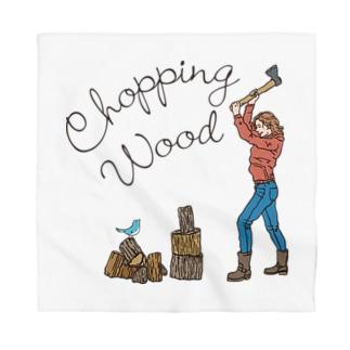 薪を割る Bandana