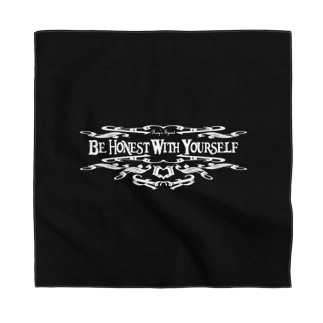 Be Honest With Yourself(WHITE) Bandana