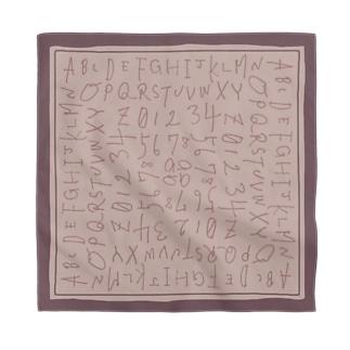 MEWの手書きの英数字-ピンク Bandana