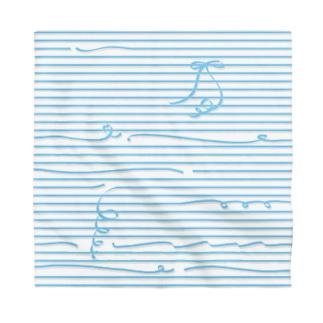 Blue Stripes Bandana