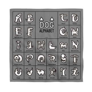 DOG alphabet-四角 Bandana