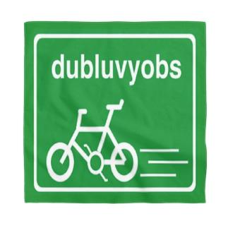dubluvyobsダブラヴヨブス のSquared bike logo Bandana