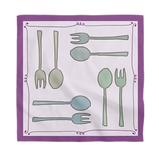 Happy Lunch-紫 Bandana