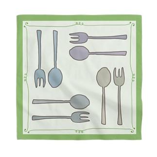 Happy Lunch-緑 Bandana