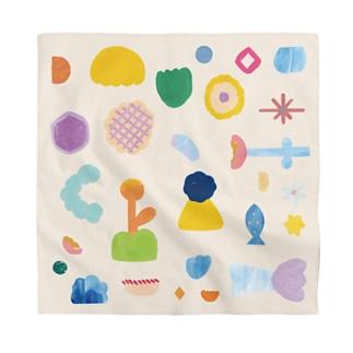 flower pattern - 花のたからもの - Bandana