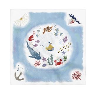 海の刺繍 Bandana