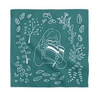 本と植物 Bandana