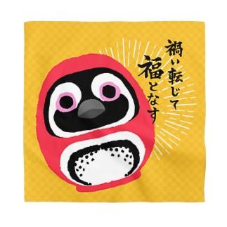 ペンギンだるま(両目墨入れver.) Bandana