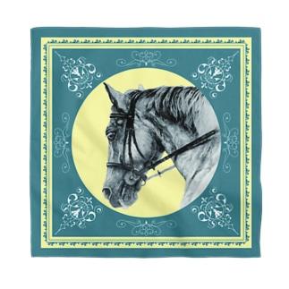 馬の絵の画家 斉藤いつみの馬の絵バンダナ2 Bandana