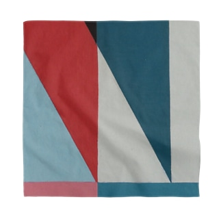 Geometric Letter series - Berry Mint 'M' Bandana