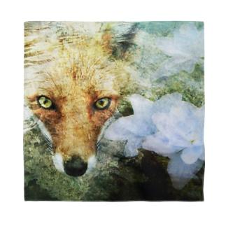 狐と紫陽花 Bandana
