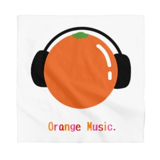 orange music Bandana