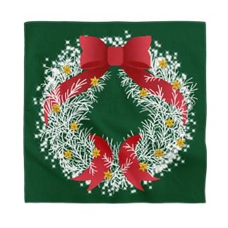 Christmas Wreath Bandana