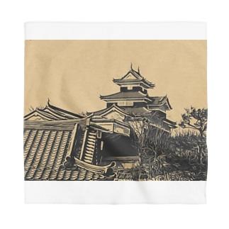 日本の城 小峰城 Bandana