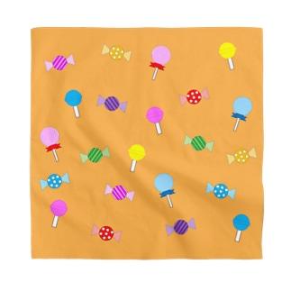 たくさんのキャンディ(オレンジ) Bandana