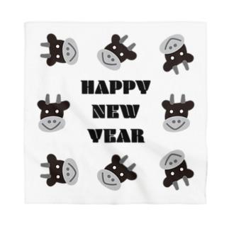 丑年HAPPY NEW YEAR Bandana