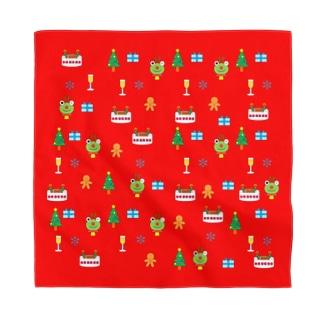 かえるさんのクリスマス(赤) Bandana