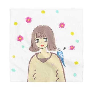 幸せの青い鳥♡ Bandana