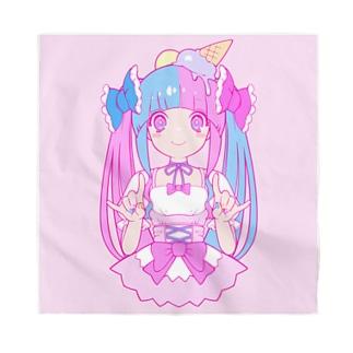 アイスクリーム/ピンク Bandana