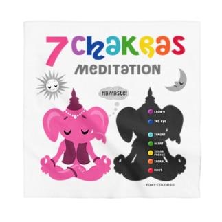 ガネゾーくんのチャクラ瞑想 ピンク Bandana
