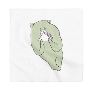 ハムサンドを食べるクマ Bandana