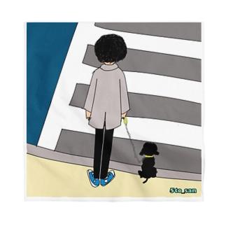 犬と信号待ち Bandana